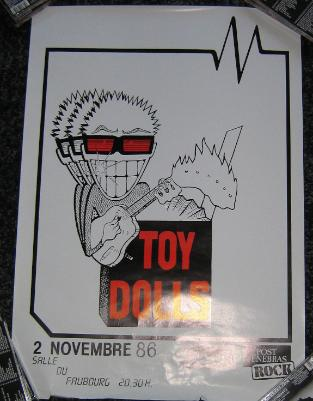 display image of TOY DOLLS - Fruborg 2/11/86 Poster