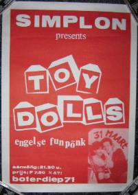display image of TOY DOLLS - Holland 31/3/84 Poster