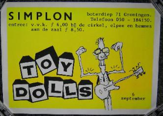 display image of TOY DOLLS - Holland 6/9/85 Poster
