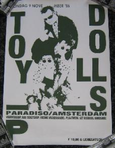 TOY DOLLS, Amsterdam 9/11/86 Poster