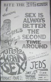 display image of TUPELO SEX CHAIN - 26 June Gig Small Poster
