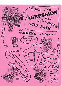 display image of AGRESSION - 31 July Gig Flyer