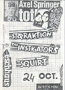 AXEL SPRINGER/INSTIGATORS, 24 Oct Gig Flyer