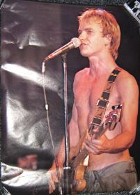 POLICE, Live Shot Of Sting Poster