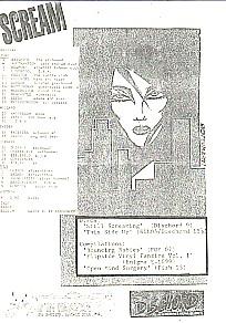 1986 A4 European Tour Dischord Flyer