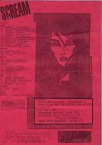 SCREAM, UK 1986 Tour Flyer