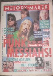 Melody Maker 7/11/92 Front Cover (featuring) sonic-youth [thumbnail]