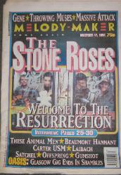 Melody Maker 17/12/94 Front Cover (featuring) stone-roses [thumbnail]