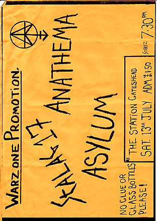 display image of STALAG 17/ANATHEMA - 13/7/85 Gig Flyer