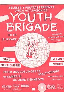 YOUTH BRIGADE 30/9/94(?) Flyer