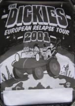 DICKIES, European Relapse Tour 2001 Poster