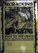 MCRACKINS, European Eggvasion Tour Poster