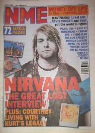 NME Front Cover 8/4/95 (featuring) nirvana [thumbnail]