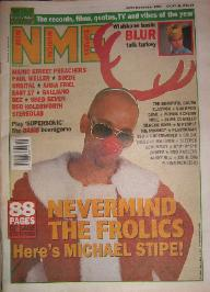 display image of R.E.M. - Front Cover NME 24/12/94
