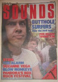 display image of BUTTHOLE SURFERS - Front Cover Sounds 26/10/85