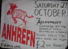 AHNREFN, 29/12/89 Newcastle Poster