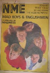 MADNESS, NME Front Cover 10/8/85