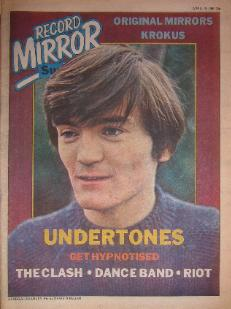 display image of UNDERTONES - Front Cover Record Mirror 19/4/80