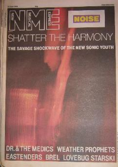 Front Cover NME 21/6/86 (featuring) sonic-youth [thumbnail]