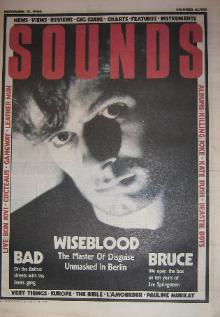 Front Cover Sounds 15/11/86 (featuring) wiseblood-foetusclint-ruin [thumbnail]