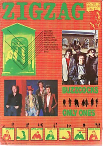 BUZZCOCKS/ONLY ONES, Front Cover Zig Zag May \'79