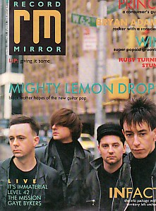 Record Mirror Front Cover 11/4/87