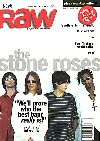 Front Cover Raw Dec 95 (featuring) stone-roses [thumbnail]