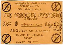 Leeds 5/11/86(?) gig ticket