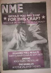 Front Cover NME 8/3/86 (featuring) sigue-sigue-sputnik [thumbnail]