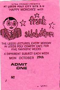 Leeds 29/10/90 gig ticket