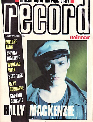Front Cover Record Mirror August '84 (featuring) associates [thumbnail]