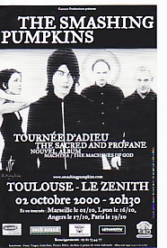 Toulouse 2000 French Gig Flyer
