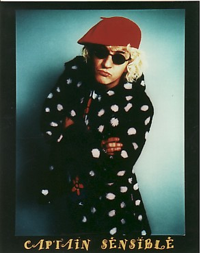display image of CAPTAIN SENSIBLE (DAMNED) - 1997 Fan Club Photo