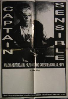 display image of CAPTAIN SENSIBLE (DAMNED) - Meathead Promo/Live Poster