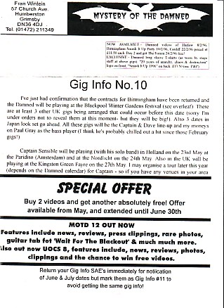 Gig Info No.10 1996 Newsletter