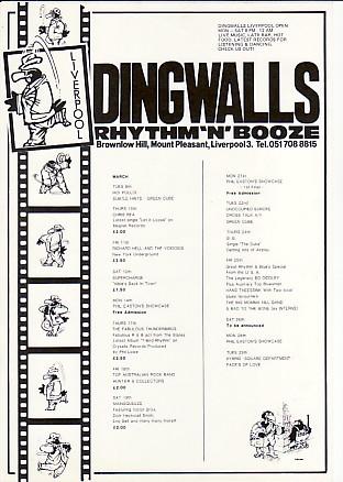 RICHARD HELL, 1983 Dingwalls Gig Diary