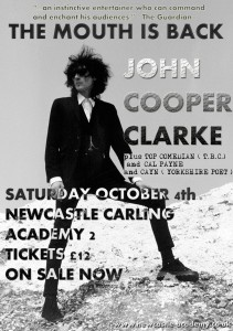 John Cooper Clarke Newcastle Academy