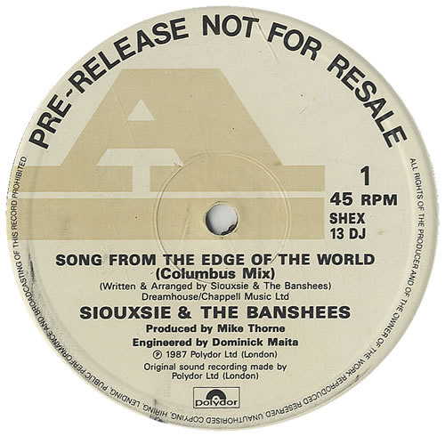 display image of SIOUXSIE AND THE BANSHEES - Song From The Edge Of The World