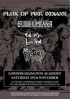 Flux/Subhumans/Rubella gig