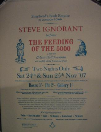 Steve Ignorant Feeding Of The 5000 poster