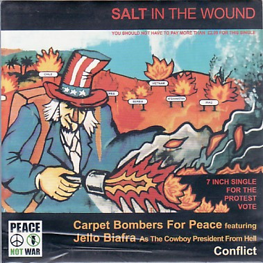 display image of CARPET BOMBERS (CONFLICT/JELLO BIAFRA) - Salt In The Wound
