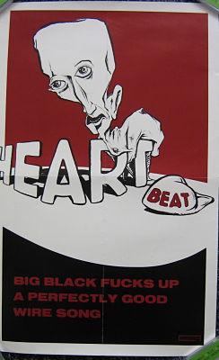 BIG BLACK, Heart Beat Promo Poster