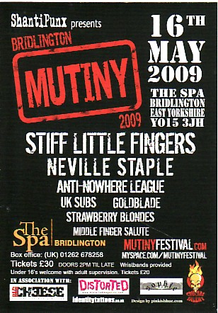 Mutiny Festival, 16th May 2009, Bridlington