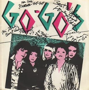 "Go-Go's We've Got The Beat stiff 7"" signed"
