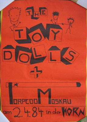display image of TOY DOLLS - Germany 2/4/84 Gig Poster