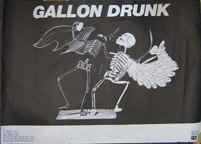 GALLON DRUNK, Bedlam European Gig Poster