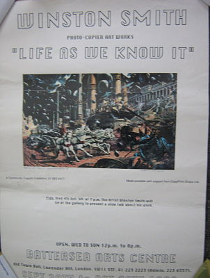 WINSTON SMITH (DEAD KENNEDYS), 1989 Exhibition Poster