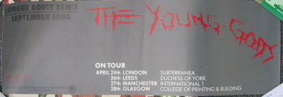 YOUNG GODS, Logue Route Tour Poster