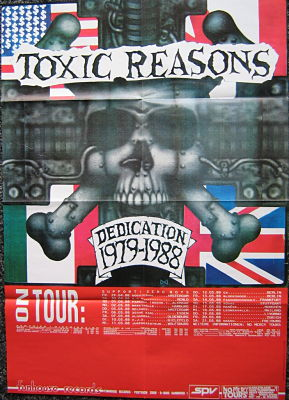 display image of TOXIC REASONS - 1988 European Tour Poster