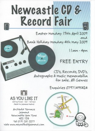 Newcastle Record Fair Mon 4th may